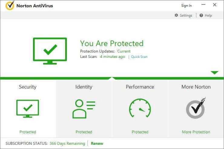 Windows 10 Best Antivirus - Norton
