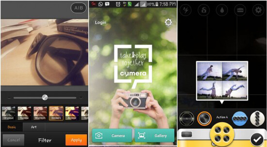 Cymera Best Android Photo Editing App