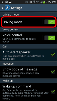 Driving-Mode-setting-from-settings